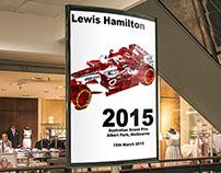 Typographic Poster - Lewis Hamilton