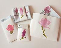 Magnolia block printing