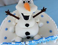 Frozen Theme Fondant Cake