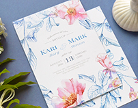 """Briar"" wedding invitation suite"
