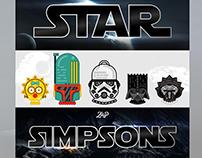STAR SIMPSONS - DESIGN TSHIRT