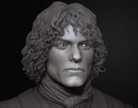 Jamie Fraser likeness sculpting