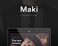 MAKI Ecommerce UX/UI Concept