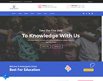 Kindergarten Website static page