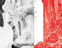 Book cover design for 'Brave New World'