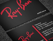Ray Ban business card