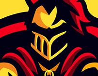 KNIGHTS Mascot Logo, sold.