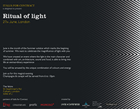 Ritual of light flyer
