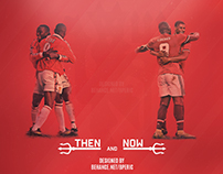 Manchester United 19 - 9 (then and now) wallpaper