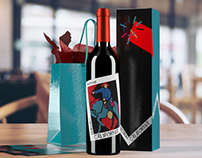 Wine bottle rendering
