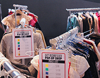 Charity Clothing drive and pop-up store creative