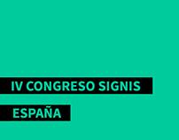 IV CONGRESO SIGNIS ESPAÑA