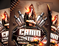 Camo Costume Party PSD Flyer Template (download .psd)