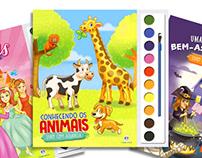 Livros de aquarela para colorir