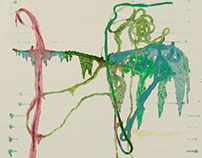 Impressions Of Paint-soaked Strings