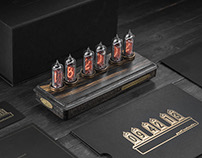 Past Indicator. Handcrafted nixie tube clock