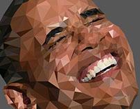 Barack Obama Low-Poly Portrait