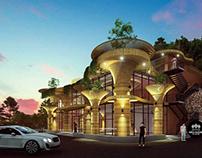 Thiết kế trạm dừng chân 13x20m hiện đại tại Lâm Đồng