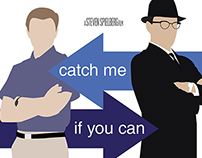 Catch Me If You Can - Minimalistic poster design