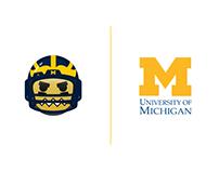 Michigan Football Player Emoji