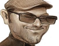 Caricature Portrait of Garret Holt
