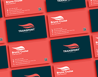 Free Transport Company Business Card Design