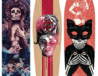 October Custom Skateboard Decks by The Poster Posse