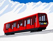 Davos Ski Train Poster