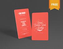 Free Stylish Round Business Card Mockup