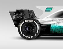 Game of Thrones S7 and 2017 F1 GP Mash Up