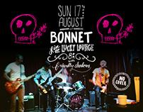 Bonnet Gig Poster August 17, 2014