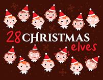 Christmas elf emojis