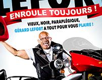 GÉRARD LEFORT Enroule Toujours / Affiche One Man Show