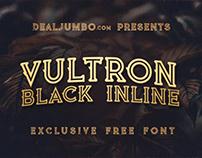 Vultron Black Inline – Free Font