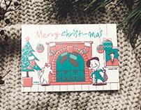 17' christmas card