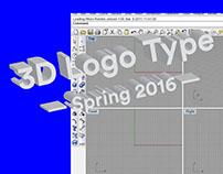 3D Logo Type