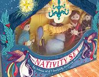 Nativity Set packaging // Fortnum & Mason