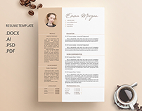 Coffe Resume Template / CV template