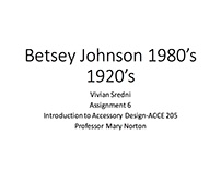 Betsey Johnson-1920's Collection