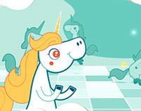 Character Animation: Banco Azul - Pinino (Unicornio)