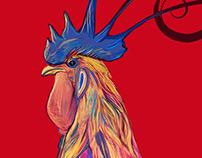 Gallo de Fuego Año nuevo chino 2017