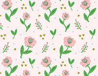Cosmos Flowers Pattern