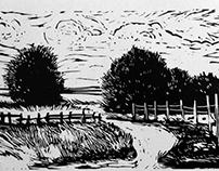 Landscapes - linocut
