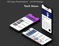 IOS App Presentation – UI/UX Design Template / Mockup