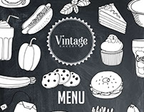 Vintage Bakery Menu & Brochure: Illustrations & Design
