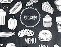 Vintage Bakery Menu & Brochure: Illustrations & Design