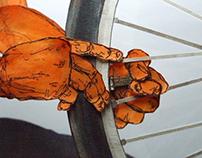 パンク直し-mending a puncture-