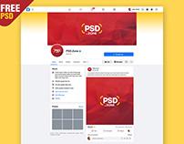 Facebook Brand Page Mockup 2020 PSD