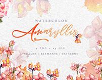 Spring pink amaryllis