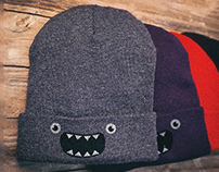 Om nom nom! @Threadless (Monster Beanies)